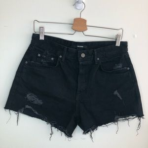 Brand New! GRLFRND Black Helena Short  NWOT 28